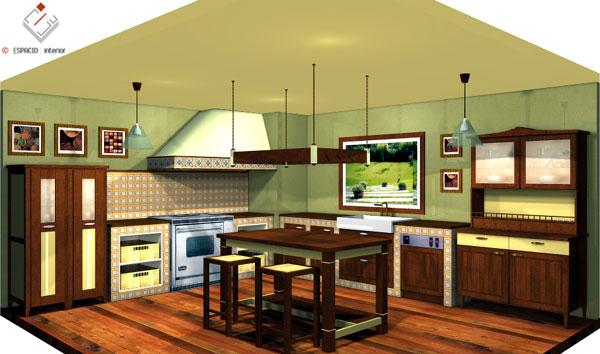 Dise o de cocinas modernas cl sicas r sticas - Diseno cocinas rusticas ...