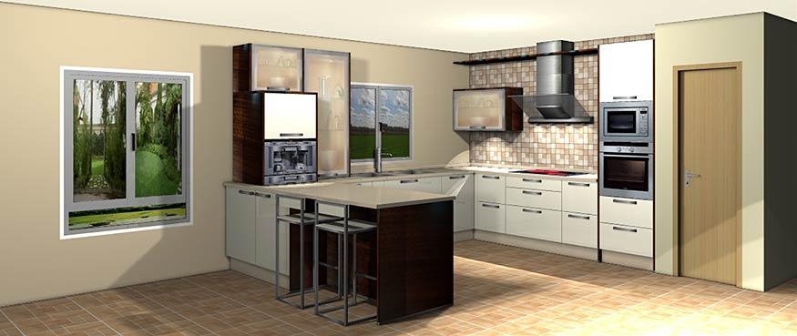 Espacio interior cocinas dise o y proyectos for Planos de cocinas 4x4