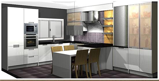 Cocinas planos y proyectos dise o y presupuestos for Diseno de cocina online