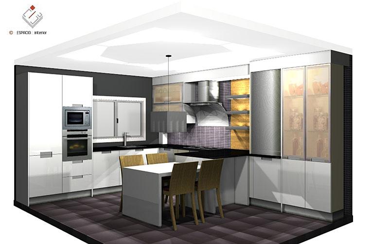 Cocinas planos y proyectos dise o y presupuestos - Dosde espacio cocinas ...